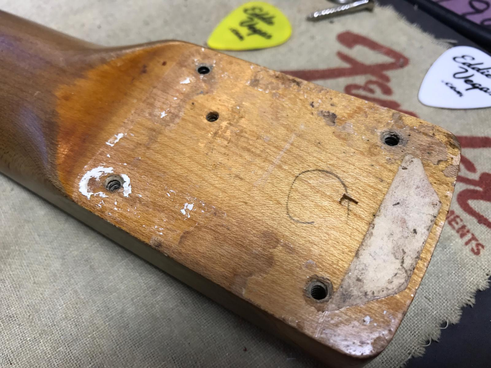 Original 1961 Fender Neck Heel