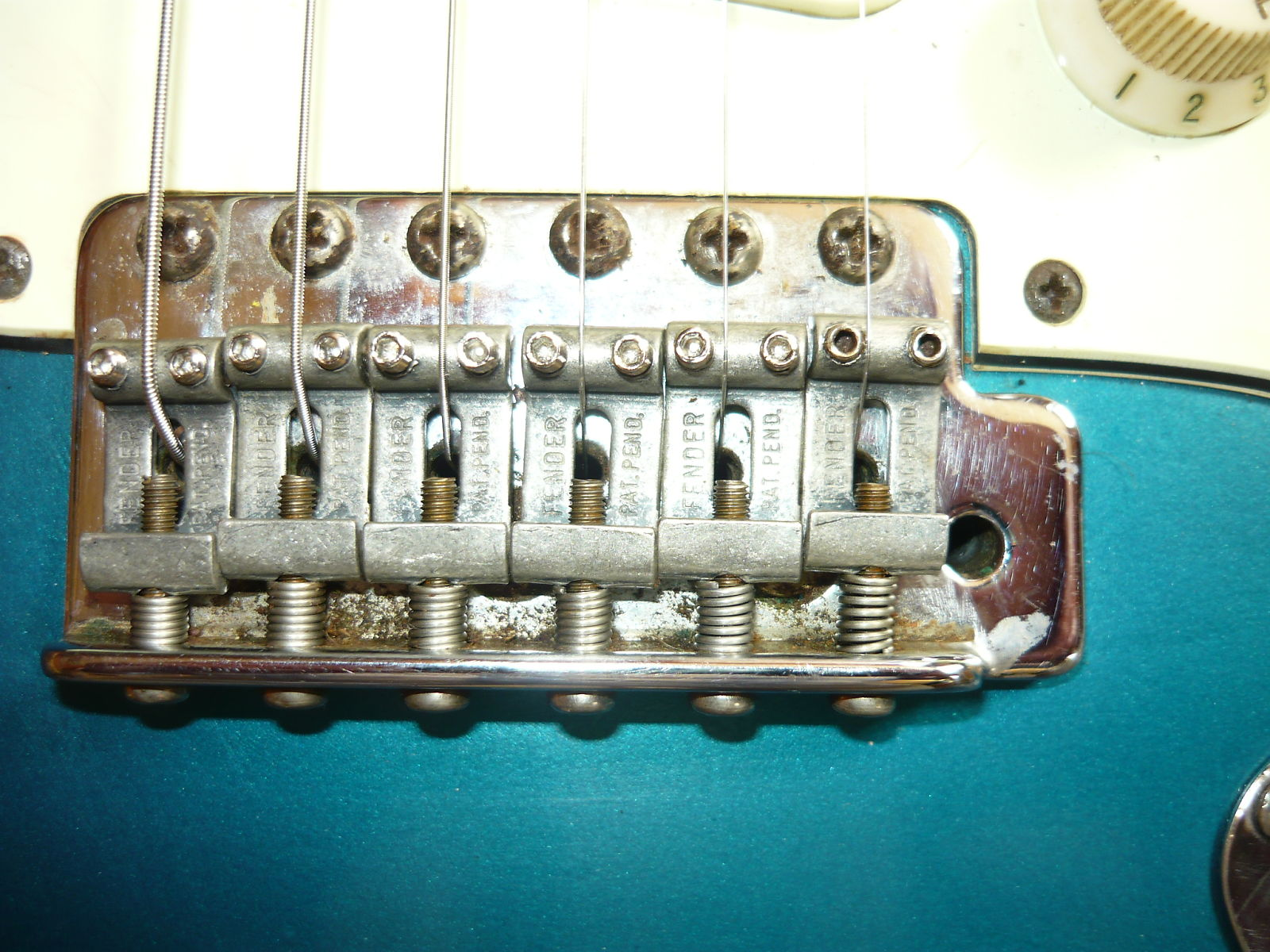 1961 Strat fake bridge
