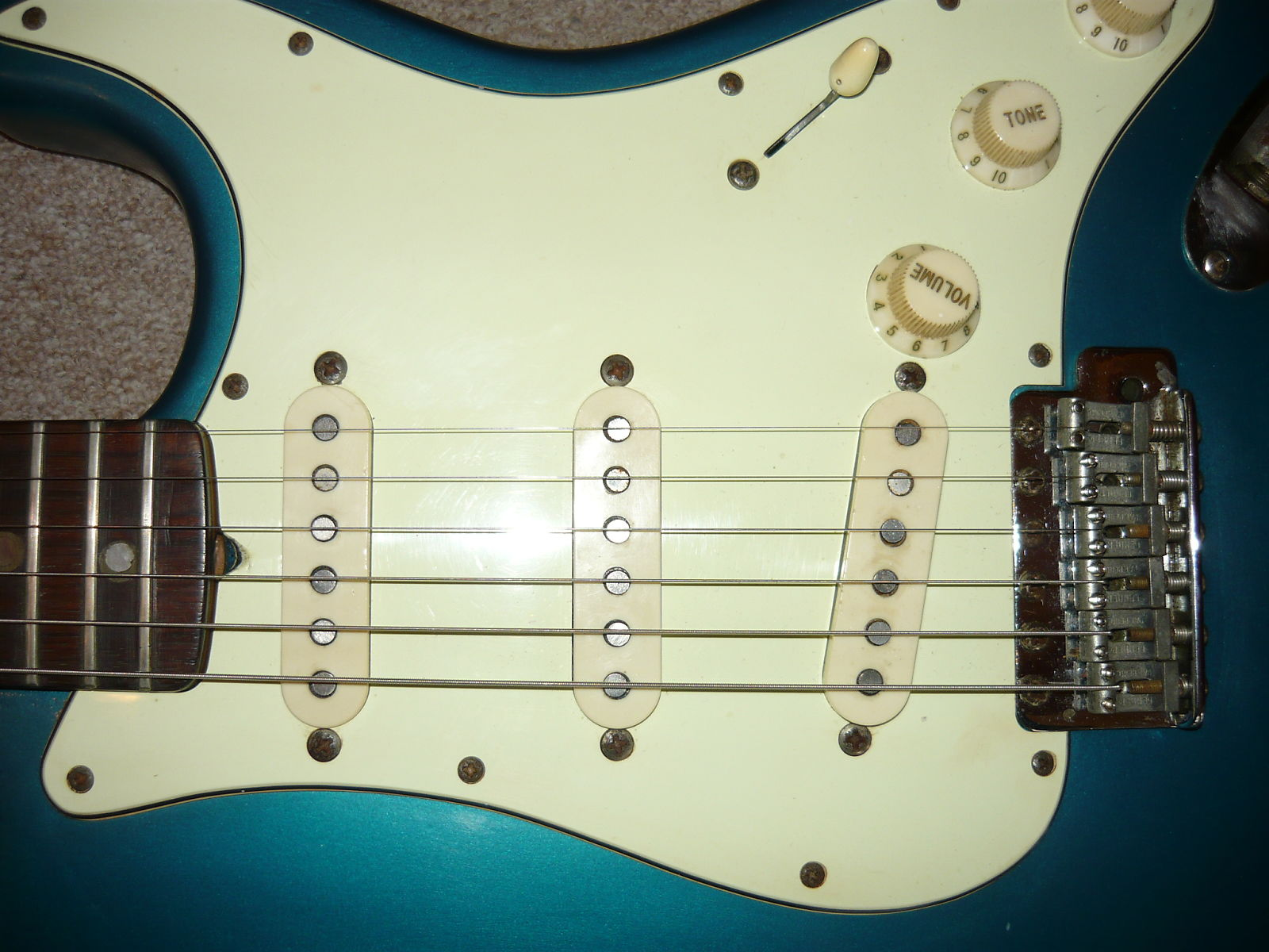 1961 Fake Strat pickguard